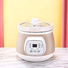Elektrische slow cooker 1,5 l keramische stoofpot huishoud-Smart-elektrisch fornuis met reserveringsfunctie en 6 kookinste...