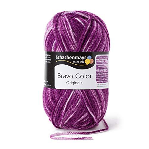 Schachenmayr Handstrickgarne Bravo Color, 50g Violett Denim