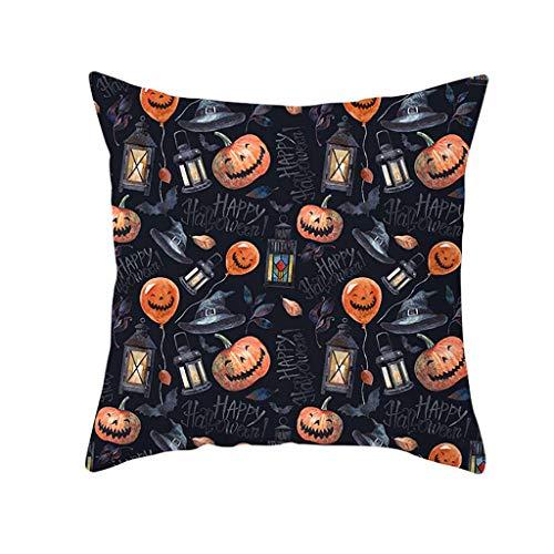 NszzJixo9 Halloween Pumpkin Throw Pillow Cover Pillowcases Decorative Sofa Cushion Cover 45 X 45cm Sided Pattern Pillowcase for Decoration Sofa Cushion Home Bed (G)