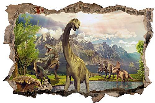 DesFoli Dinosaurier Urzeit Dino Wandtattoo Wandsticker Wandaufkleber D2743 Größe 70 cm x 110 cm