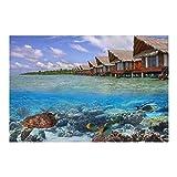 Rompecabezas de la imagen, playa costera de mar tortuga rompecabezas 1000...