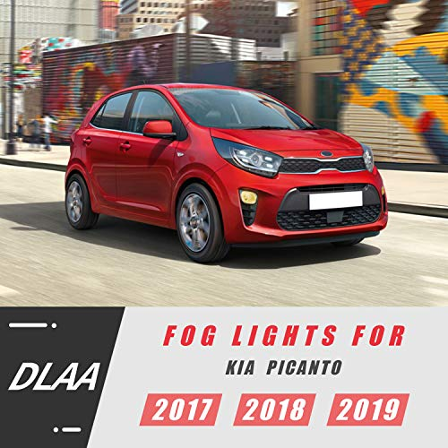 DLAA Front Fog Lights Compatible with KIA 2018 2019 2020 PICANTO Waterproof Front Bumper Fog Lamps Set-1 Pair