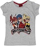 Miraculous Ladybug Baumwoll-T-Shirt, kurzärmelig Gr. 8 Jahre, grau