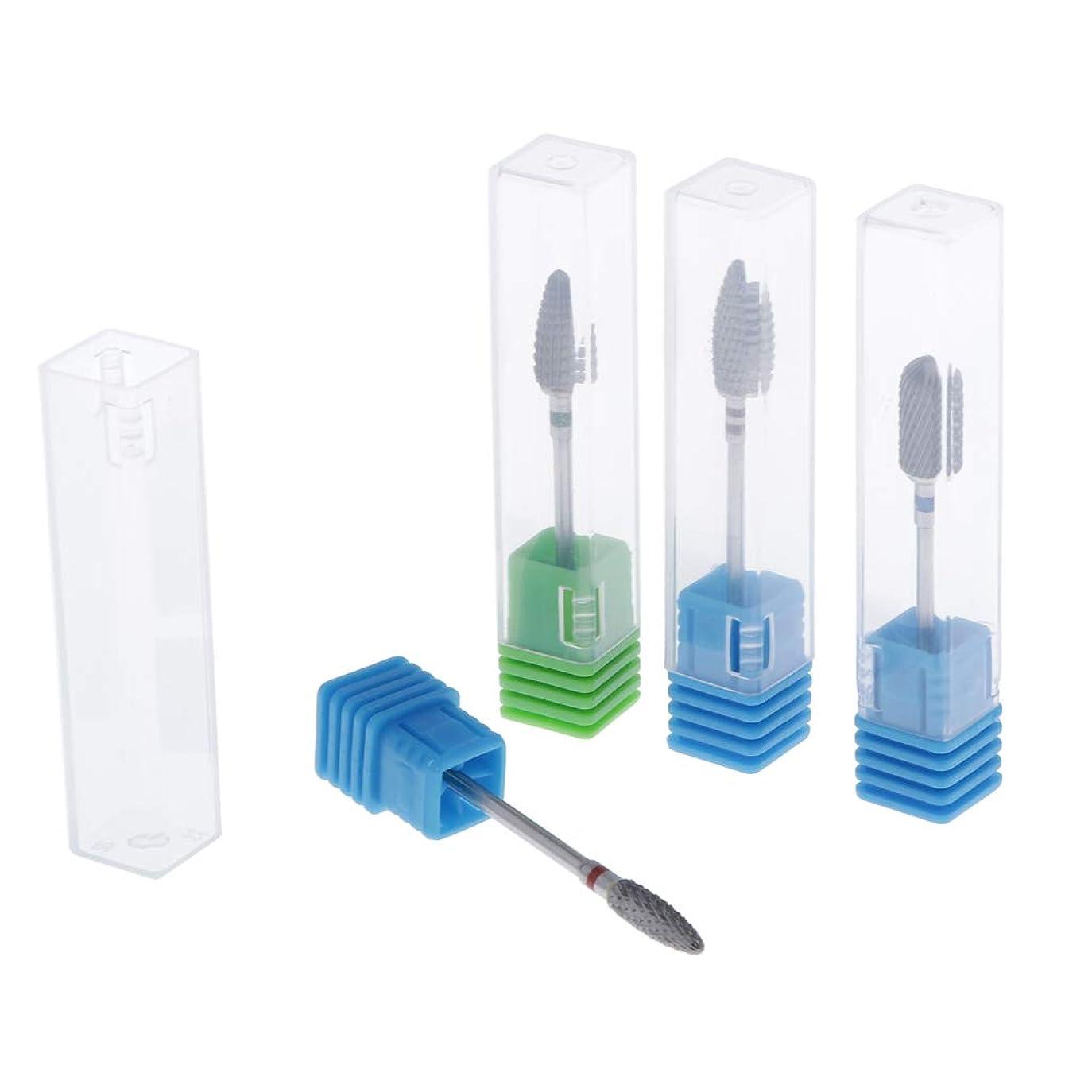 T TOOYFUL 陶磁器ドリルビット ネイルドリルビット ロータリーファイル 研削ネイル 切削工具 耐摩耗性 4個入