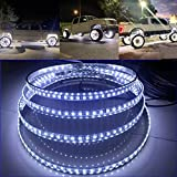 15.5' IP68 Brightest WHITE LED Wheel Lights Switch Ctrl Pure White Wheel Rim Lights Solid Color Rim Light Up for Truck VEHICAL OFFROAD