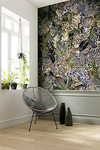 Vlies Fototapete von Komar - Wild Cats - Größe 200 x 250 cm - Tapete, Wanddekoration, Wohnzimmer, Design, Modern, Wandbelag