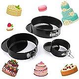 Teglie con cerniera per dolci Tortiera apribile 3 Dimensioni (23cm - 18cm - 11cm) Stampo per Torte...