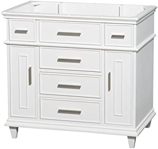 Wyndham Collection Berkeley 36 inch Single Bathroom Vanity in White with No Countertop, No Sink, No Mirror