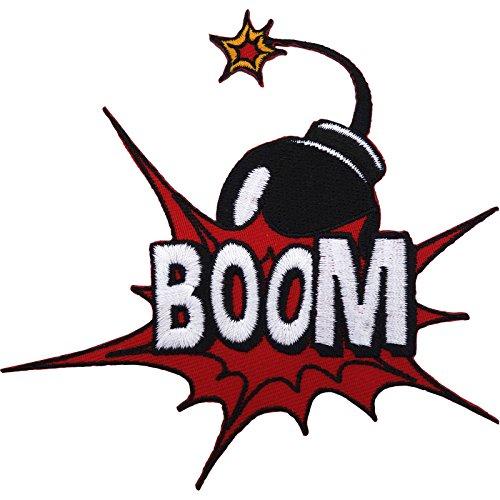 BOOM Bomb parche hierro/sew bordado