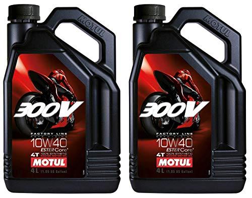 Motul 300V Factory Line 10W40 Ester Aceite de motor totalmente sintético, carretera Racing, 8 litros