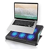 Laptop Cooling Pad Laptop Cooler 6 Quiet Cooling Fans for 12-17.3 Inch Laptop, Dual USB 2.0 Ports, Portable 6 Angle Adjustable Laptop Fan Cooling pad
