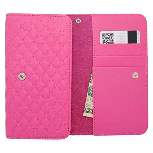 Zizo Universale horizontale Tasche mit Ausweishalter und Umhängeband, 14 cm, Pink