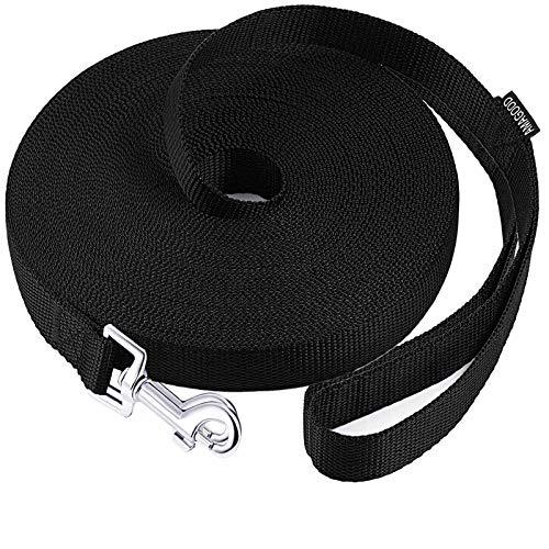 obbedienza Guinzaglio da addestramento per cani lunghezza 2,6 cm x 10 m colore: nero per addestramento