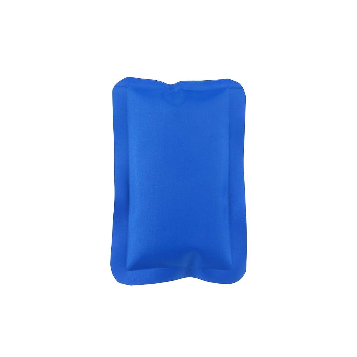 足音熱帯の九月HEALLILY 150ML再利用可能なホット&コールドジェルパック(コンプレッションラップスポーツ傷害)ジェルアイスパック多目的ヒートパック(マッスルリリーフ用、16x10x1cm、ブルー)