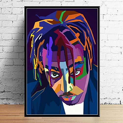 GaoDashan Art Decor Wrld J Cole Post Malone Mac Miller Travis Scoot Rapper Star Hip Hop Arte de Pared Carteles para el hogar Pintura en Lienzo 50x70 cm (19,68x27,55 in) A-1137
