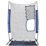 Designed for blue Flame or black Flame pitching machine Perfect for fast-pitch or slow-pitch Softball Quick and easy set up and take down. Use indoors or out Completely portable with carry bag included Assembled size is 7 ft. Tall by 5 ft. Wide