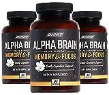 ONNIT Alpha Brain (270ct) - Premium Nootropic Brain Supplement - Focus, Concentration & Memory - Alpha GPC, L Theanine & Bacopa Monnieri