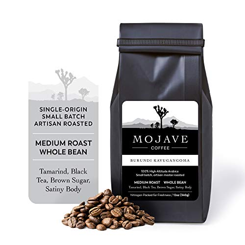 Burundi Kavugangoma, Single-Origin, Non-GMO, Whole Bean Coffee, Medium Roast from 100% Premium Arabica Coffee Beans Grown at High-Altitude, Keto Friendly, Small Batch Fresh Roasted (Gift Wrap Available) 12 oz Coffee Beans - Mojave Coffee