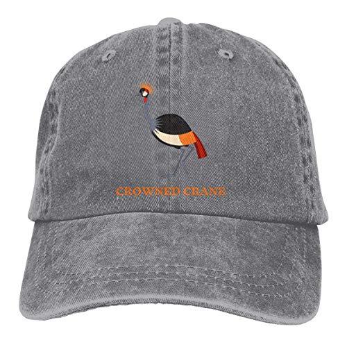 Hat Cartoon Crowned Crane Washed Denim Cap Baseball Cap Gemütliche Personalisierte Hiphop Verstellbare Unisex Dad Hut Langlebig Classic Angeln Trucker Hut