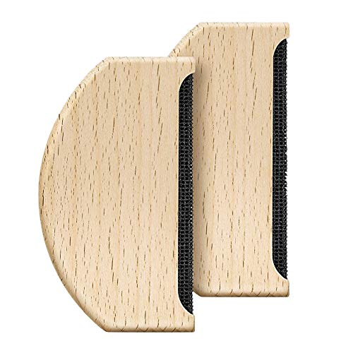 Qmcmc 2 Stücke Kaschmir Kamm Pullover Rasierer Wolle Kamm Holz Pilling Fussel Stoff Fusselentferner Manuelle Tragbare Kleidung Pinsel Werkzeug für De-Pilling Kleidung Kleidungsstücke