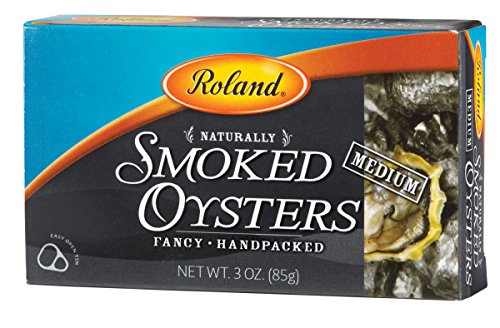 Roland Foods Premium Naturally Smoked Medium Oysters in Oil,...