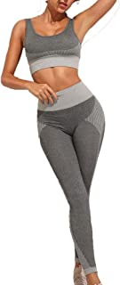 Olmecs Women's Athletic Clothing Sets Seamless Yoga Workout Gym Leggings and Sports Bra are Seperate
