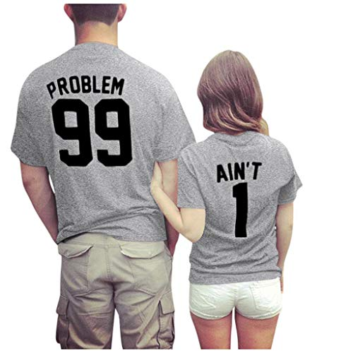 Affordable EINCcm Short Sleeve Jerseys for Couples | His and Her Matching Couple Jersey Shirts Valen...