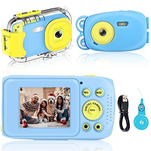 Cámara para Niños, Camara Fotos Infantil DIWUER 1080P / 8MP Cámara Digital para Niños, con Tarjeta SD de 16GB + Funda Silicona + Funda Estanca