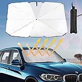 HOKEEA Car Windshield Sun Shade Umbrella - Foldable Sun Parasol Blocks UV Rays Heat Universal Visor Reflector Screen Cover