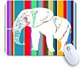 FOURFOOL Tapis de Souris Bureau et Gaming,Conception Graphique Éléphant Clipart vectoriel,Base en Caoutchouc Antidérapante Mouse Pad Mousepad,240mmX200mm
