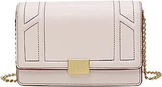 Fashion New Exquisite Trend Casual Fashion Portable Slung Shoulder Small PU Handbag (Color : Beige)