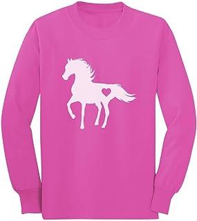 Tstars - Gift for Horse Lover Love Horses Toddler/Kids Long Sleeve T-Shirt
