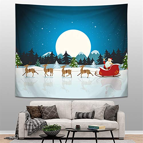Hey shop Christmas tapestry wall decoration home living room bedroom background decoration fabric hanging paintings
