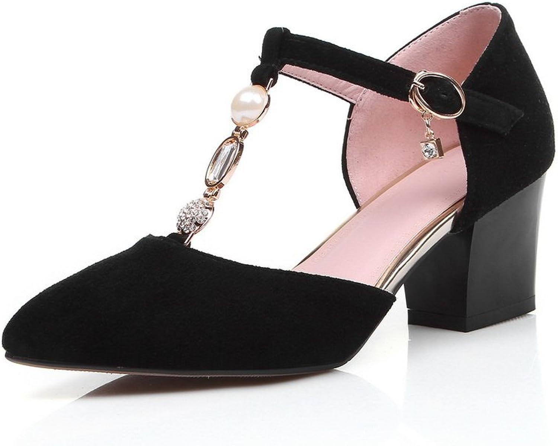 1TO9 Ladies Bead Metal Ornamänt Glass Glass Glass Diamond svart Cow läder Sandals - 5.5 B (M) USA  det bästa nätbutikbjudandet