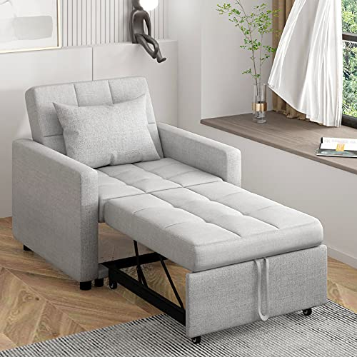 POVISON 29.9'' Convertible Sofa Chair Bed 3-in-1, Sleeper Chair Bed, Pull Out Sleeper Chair, Folding...