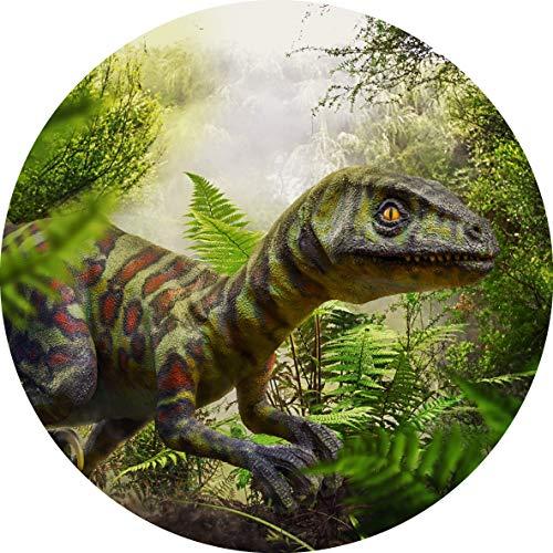 Essbarer Tortenaufleger Dinosaurier Raptor // Kuchendekoration Dino Urzeit // 20cm (Zuckerpapier)