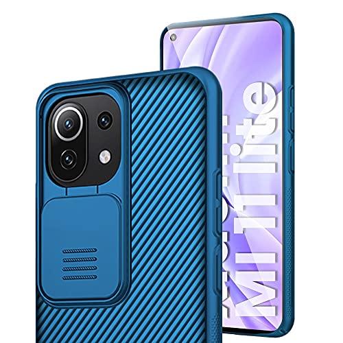 IEMY Funda para Xiaomi Mi 11 Lite, [Protección de la cámara] Estuche Protector Ultra Delgado TPU Premium Elegante para Xiaomi Mi 11 Lite - Azul