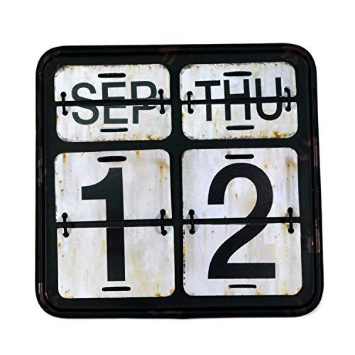 【USA アメリカン デザイン】カレンダー 日めくり カフェ ガレージ インダストリアル ビンテージ バイカー インテリア 看板 BK ;AVCA-010