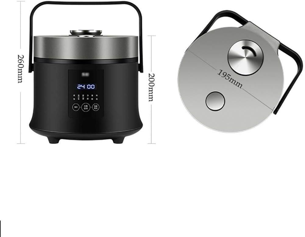 Rice Cooker (1.6liters / 300W / 110-220) Accueil Isolation Fonction Qualité Cuillère Pot intérieur Vapeur Mini Appareils Dortoir Petit (Couleur: Blanc) kyman (Color : Black) Black