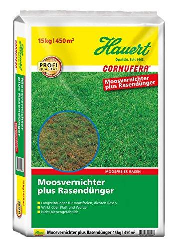 Cornufera Moosvernichter plus Rasendünger 15 KG für 450 m²