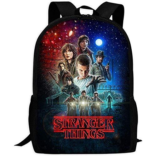 Rucksäcke Taschen Daypacks Wanderrucksäcke, College Bag,S-Tranger-Thing-S 3 Poster | Comfortable & Light School Bags Multiple Pockets Backpack for Kids/Youth/Boys/Girls