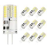 VINBE - Confezione da 10 lampadine a incandescenza a LED G4 AC/DC, 12 V, 3 W, equivalenti a 30 W di una lampadina alogena, super luminosa, non dimmerabile, 6000 K, colore: Bianco