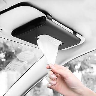 Fredysu Car Visor Tissue Holder, Car Tissue Dispenser Hanging Paper Towel Holder Case for Car Seat Back and Vehicle Side D...