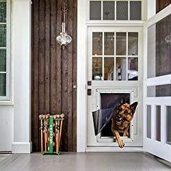 Ideal Pet Ruff-Weather Door with Telescoping Frame