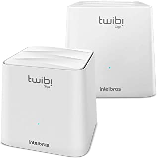 Conjunto Roteador Intelbras Twibi Giga, Mesh AC 1200, 2 Unidades, Branco - 4750069