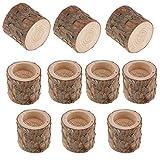 B Blesiya 10er Set Teelichthalter Holz Kerzenhalter Kerzenständer Tischdeko
