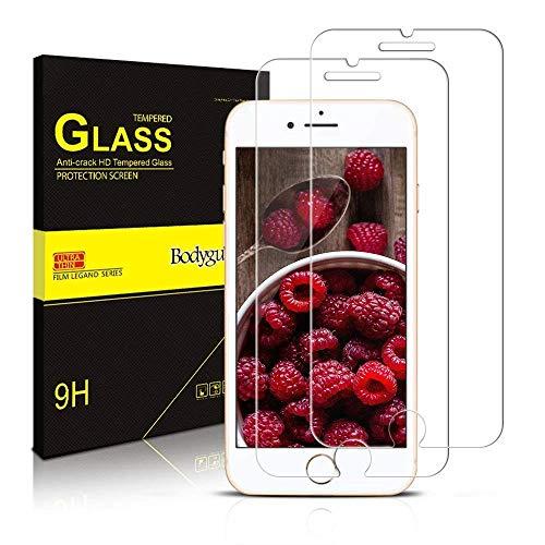 Bodyguard [2 Stück Panzerglas Schutzfolie für iPhone SE 2020 / iPhone 8 / iPhone 7 [4.7 Zoll], 9H Härte, Anti-Kratzen, Anti-Öl, Anti-Bläschen Panzerglasfolie Schutzglas