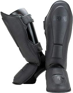 Super Pro Combat Gear Leder Schienbeinschützer Guardian Grau-S