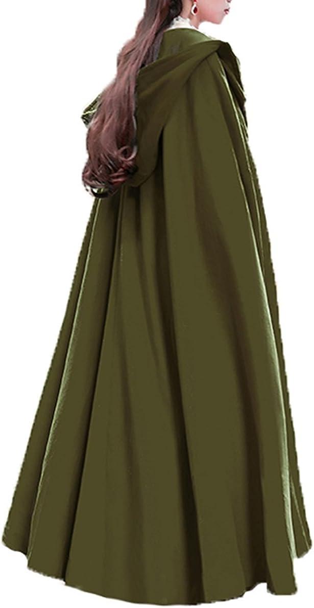 Max 69% OFF Baoqiya Women's Wool Blend Long Beach Mall Capes War Cloak Outwear Hooded Poncho