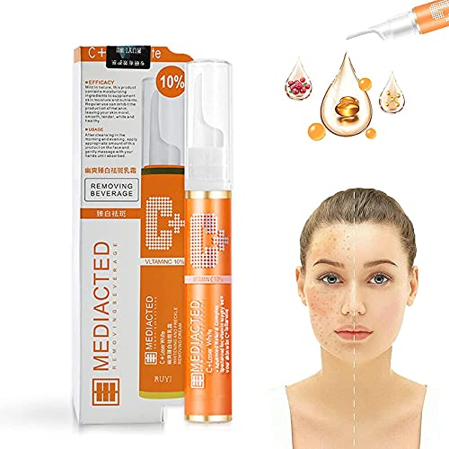NAMEI Gel instantáneo para eliminar manchas, suero blanqueador para pecas VC, crema facial reparadora de imperfecciones faciales no irritante para aclarar la piel, manchas oscuras (1pcs)